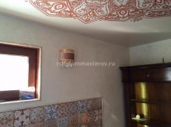Натяжные потолки 14- пример работы 'РСК ДОМ МАСТЕРОВ'