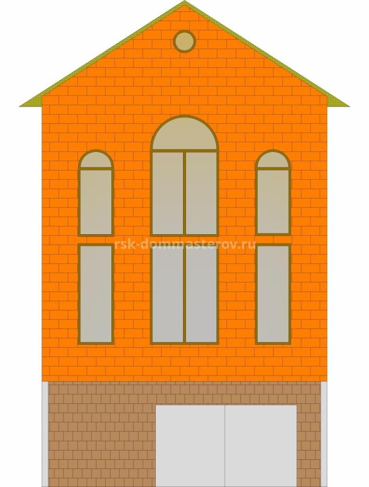 Фасад 30- пример работы 'РСК ДОМ МАСТЕРОВ'